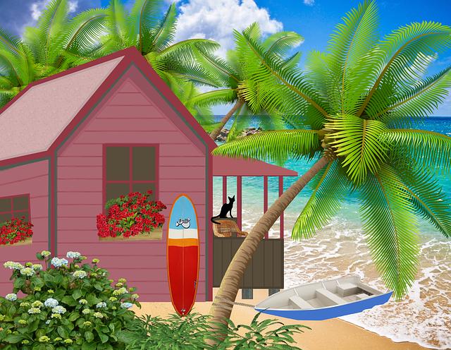 plážová chatka