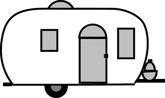 kreslený karavan